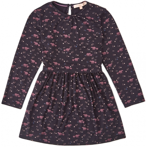 Jigsaw Girls Bear Print Jersey Dress