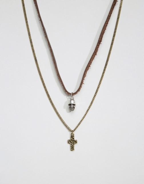 Icon Brand Skull & Cross Pack Necklace
