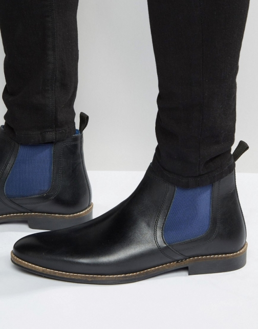 Red Tape Chelsea Black Boot