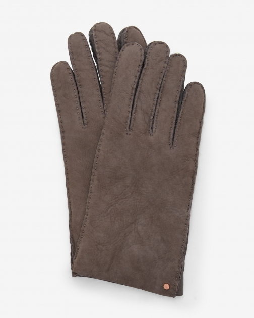 Ted Baker Suede Shearling Gunmetal Glove