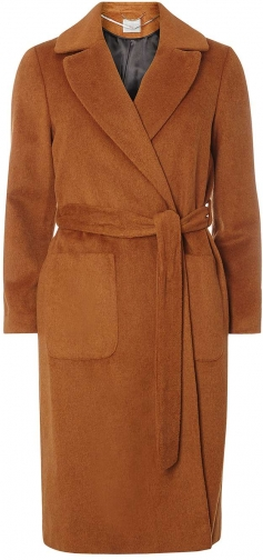 Dorothy Perkins Womens Petite Toffee Belted - Brown Coat