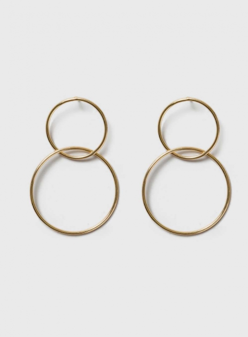 Dorothy Perkins Womens Gold Circle Drop - Gold Earring