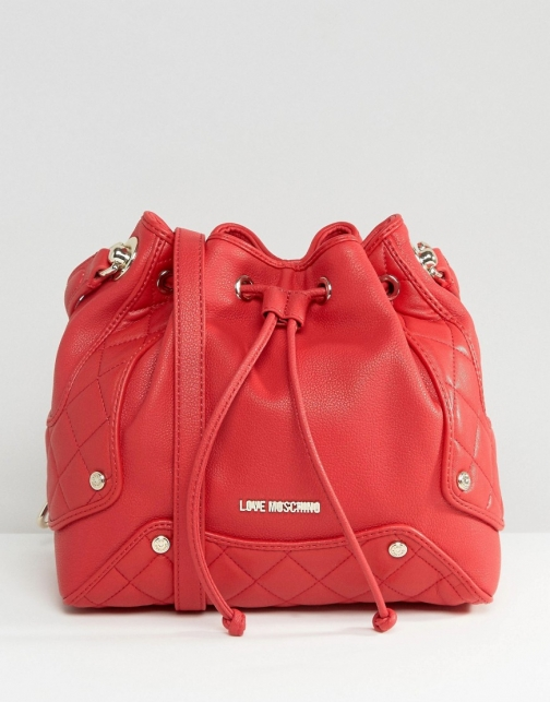 Love Moschino Grain Pebble Shoulder Bag