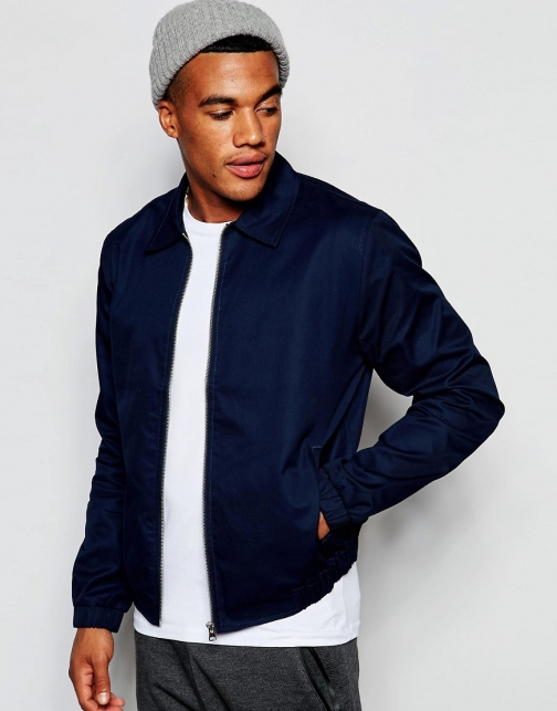 New Look Harrington Blue Jacket