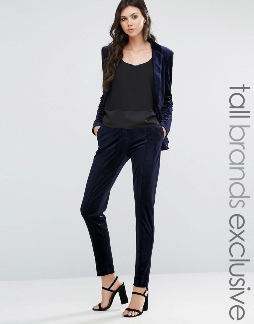 Asos Fashion Union Tall Velvet Pant Co-Ord Suit