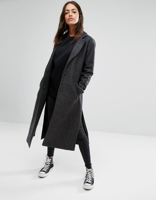 New Look Side Split Maxi Coat