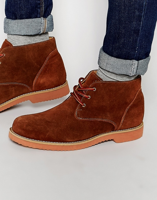 Frank Wright Desert Tan Suede Boot