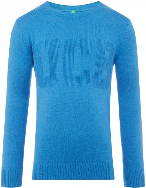 Benetton Boys Long Sleeve Crew Neck Logo Jumper