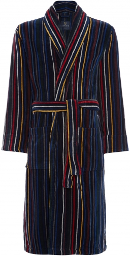 Howick Men's Howick Multistripe Towelling Dressing Gown