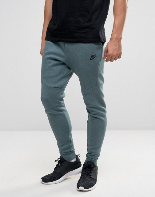 Nike Tech Skinny Joggers Green 805162-386 Fleece