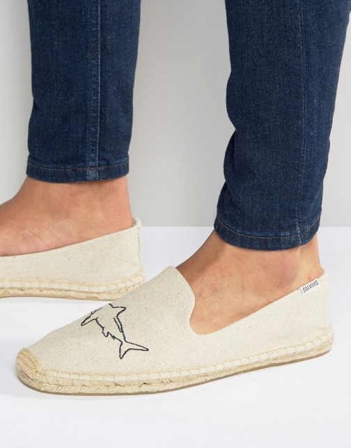 Soludos Embroidery Sharks Sand Espadrille