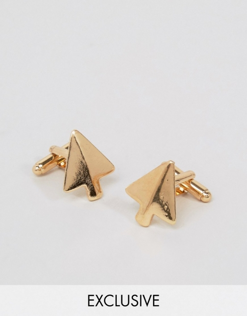 Asos DesignB Gold Arrow Cufflink