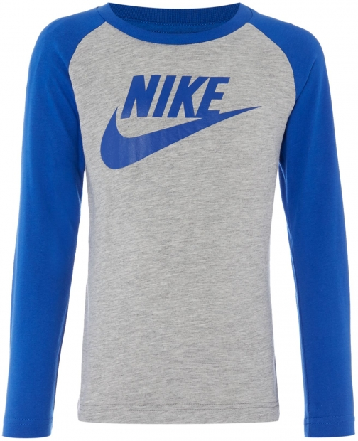 Nike Boys Long Sleeve Raglan Nike LogoT- Shirt
