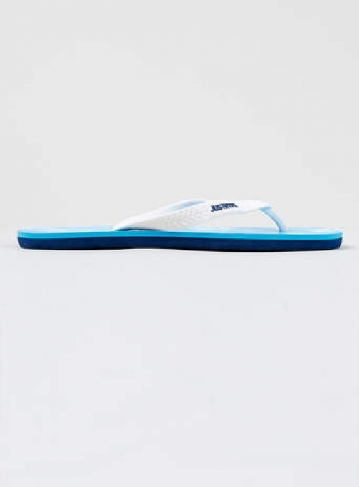 Topman Mens Hype Blue Cloud Print Flip Flop