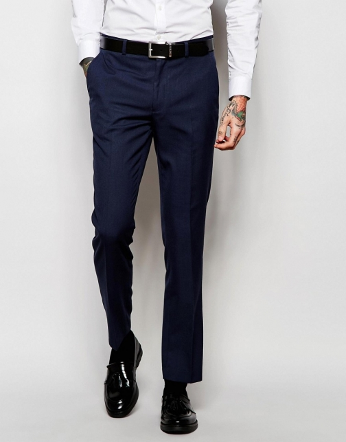 New Look Navy Suit Trouser