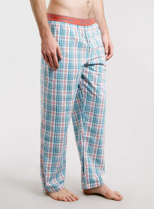 Topman Mens Multi Plaid Woven Calvin Klein Bottoms Pyjama