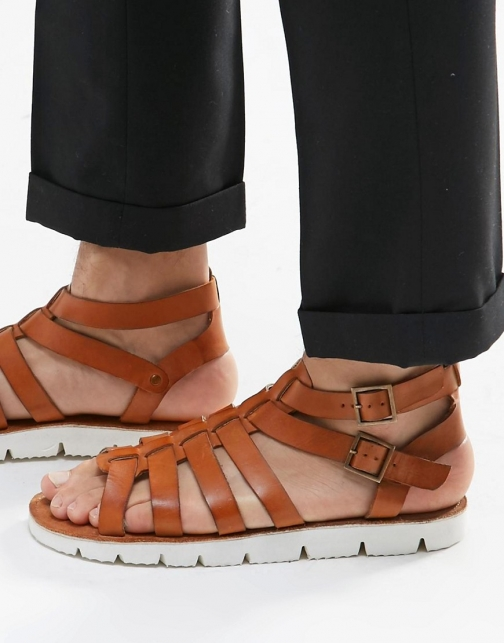Dune Leather Tan Sandal