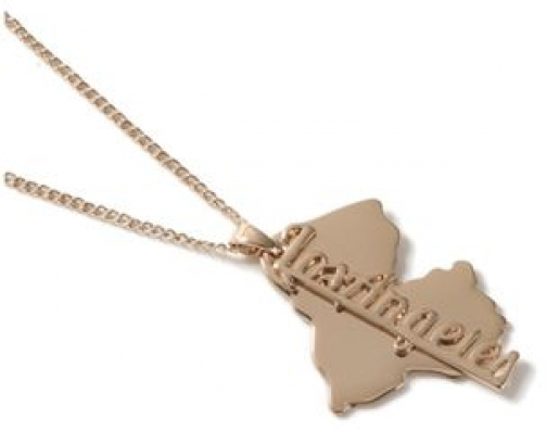 Topman Mens Gold Look Los Angeles Tag *, GOLD Necklace