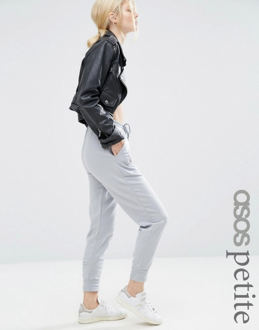Asos Petite PETITE Luxe Joggers With Contrast Satin Pockets Athletic Pant