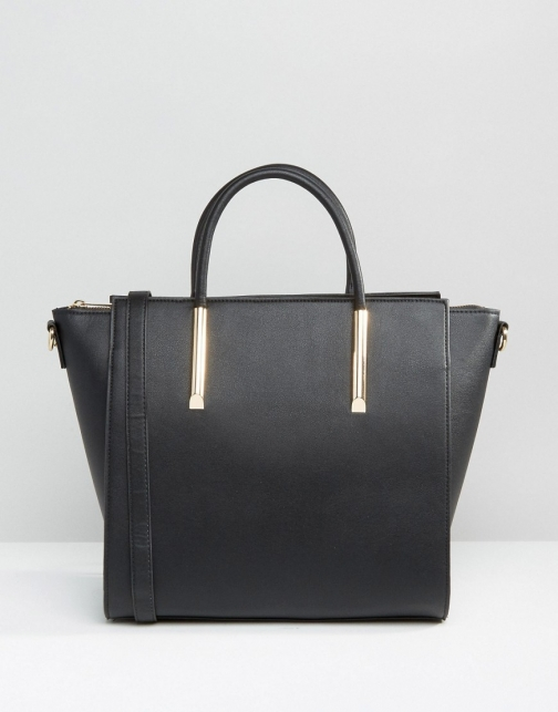 Asos Wing Tote With Metal Fitting Bag