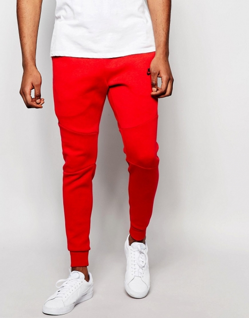 Nike Tech Skinny Joggers Red 805162-654 Fleece