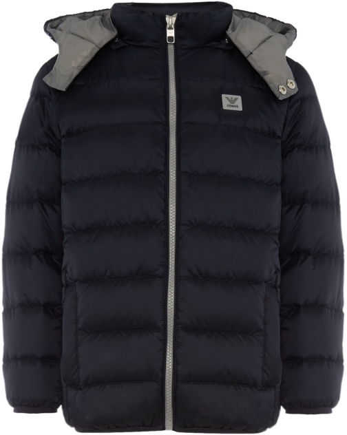 Armani Junior Boys Padded Zip Up With Hood Jacket
