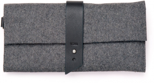 Toms Charcoal Heavy Felt Gallivant Wallet