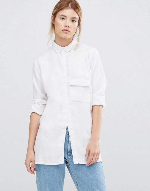 Wåven Waven Laure Long Sleeve Luxe White Shirt