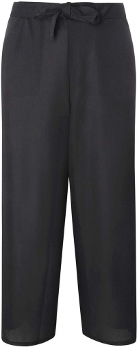 Dorothy Perkins Womens **Tall Black Waist Culottes- Black Tie