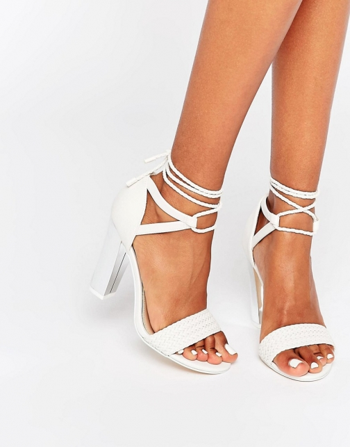 Call It Spring Aralle Block Heel Braided Sandal