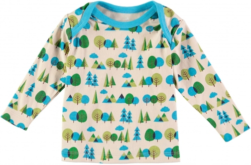 House Of Fraser Rockin' Baby Boys Long Sleeve Forest Print T-Shirt