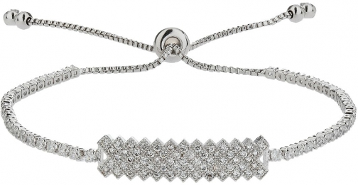 Mikey Rectangle Flat Crystal Linked Bracel Tie