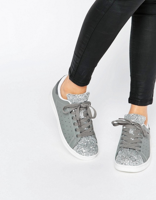 Missguided Glitter Trainer