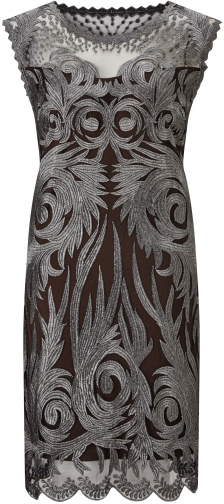 James Lakeland Embroidered Lace Detail Dress