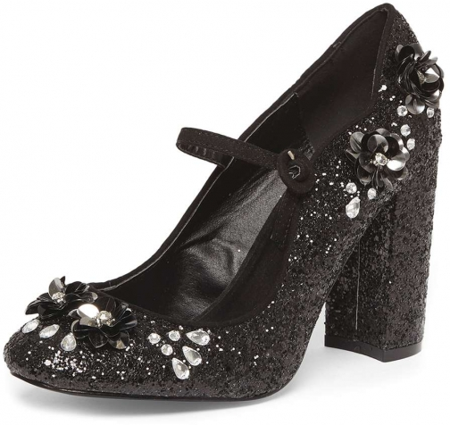 Dorothy Perkins Womens Black 'Desire' Embellished Court - Black Shoes