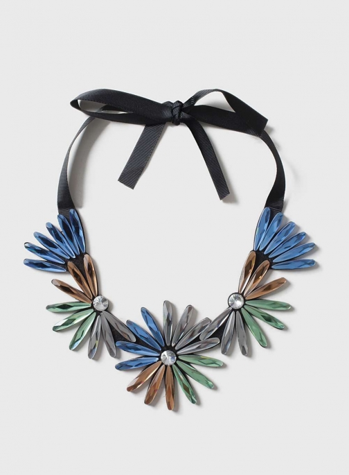 Dorothy Perkins Womens Coloured Flower - Black Collar
