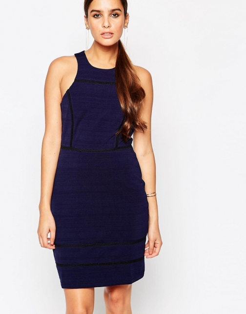 Asos Adelyn Rae Navy Bodycon Dress