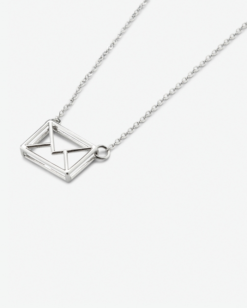 Ted Baker Love Letter Silver Colour Necklace