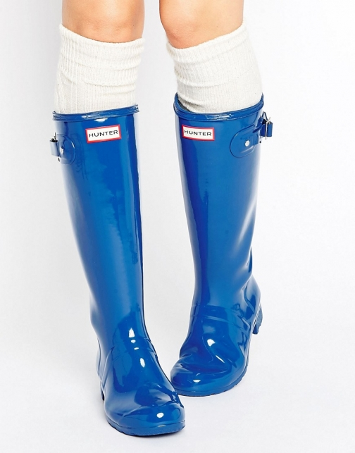 Hunter Original Adjustable Tall Glossy Wellington Boot