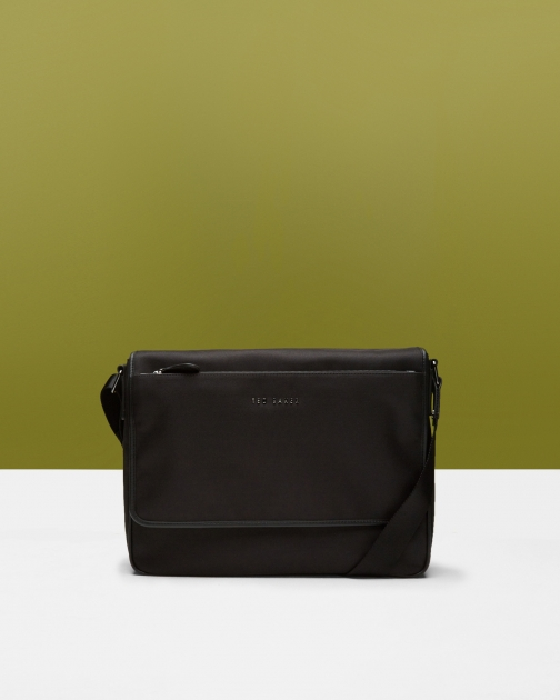 Ted Baker Nylon Messenger Bag Black Messenger Bag & Business Bag