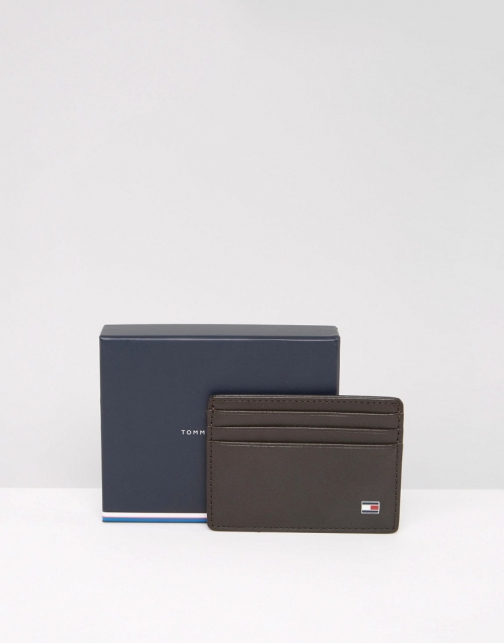 Tommy Hilfiger Eton Leather Cardholder Brown Wallet