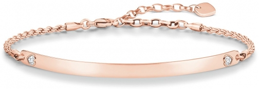 Thomas Sabo Love Bridge Rose Gold Heart Bracelet