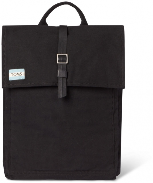 Toms Black Utility Canvas Trekker Backpack