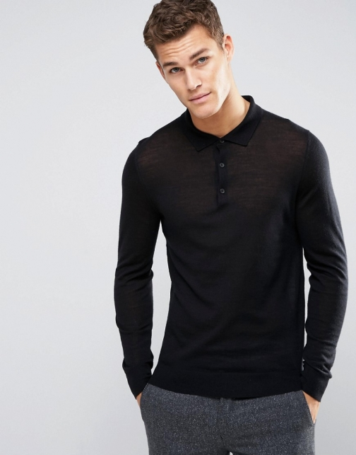 Hugo By Hugo Boss Knit Merino Polo