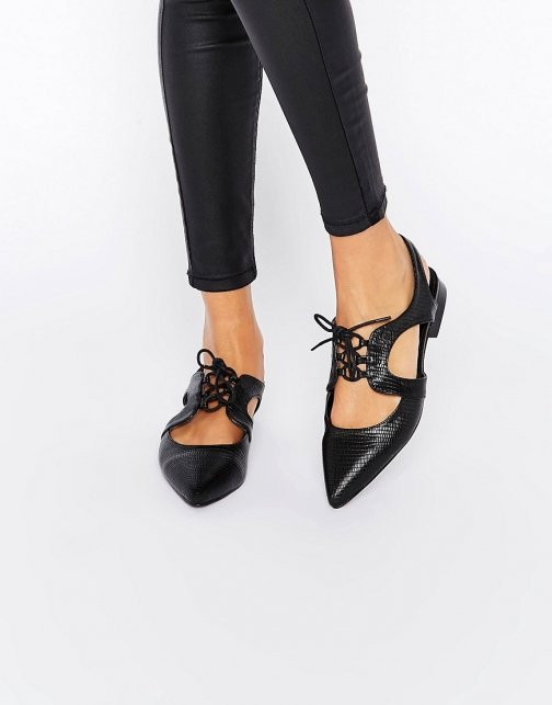 Asos MINNESOTA Lace Up Flat Shoes