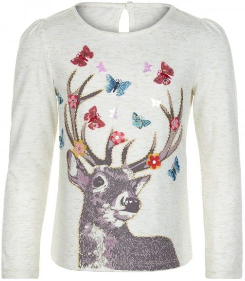 Monsoon Girls Darla Deer Top