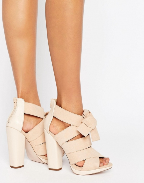 Little Mistress Crossover Block Heel Sandal