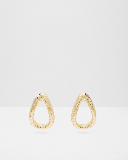 Ted Baker Textured Hoop Gold Earring