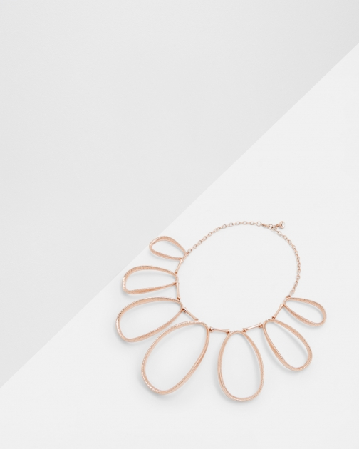 Ted Baker Textured Hoop Rose Gold Necklace
