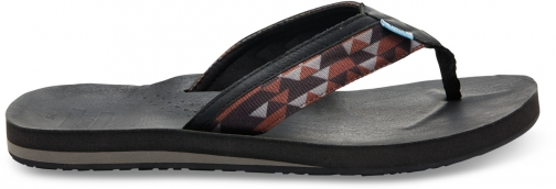 Toms Black And Brown Men's Verano Flip Flop